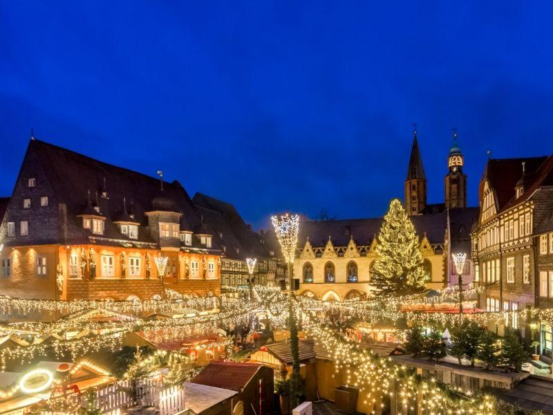 Goslar Weihnachtsmarkt.Weihnachtsmarkt Weihnachtswald Weihnachtsmarkt