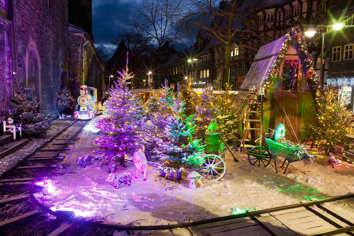 Goslar Weihnachtsmarkt.Kinder Weihnachtsmarkt Weihnachtswald Goslar